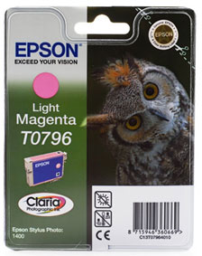Epson TO796 Light Magenta Ink Cartridge Original - Epson 796