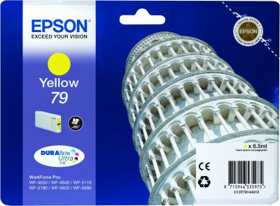 Epson T7914 yellow ink cartridge original Epson 79