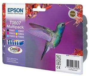 Epson TO807 Multi Pack Original Epson 6 Pack