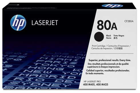 HP 80A black toner ORIGINAL - HP CF280A Toner Original
