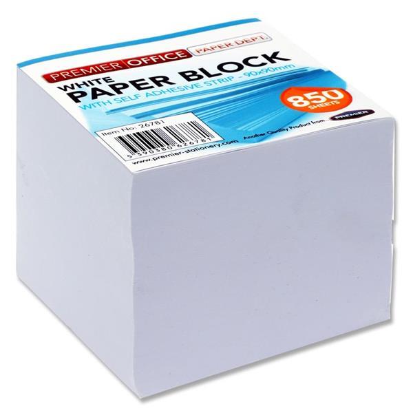 Premier Office 90x90mm White Paper Block 850