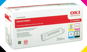 OKI 43698501 toner rainbow pack ORIGINAL