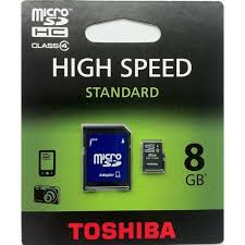 8 Gig SD Card With Micro Adapter Toshiba