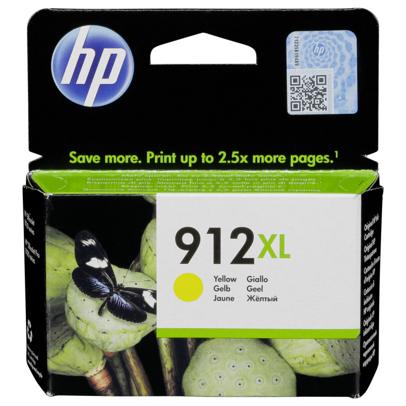HP 912XL high capacity yellow ink cartridge original