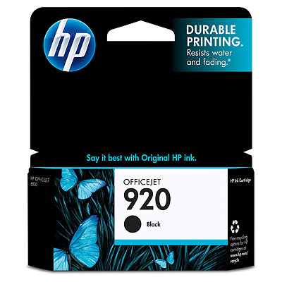Hp 920 Black Ink Cartridge Orignal 420 Pages