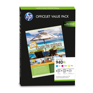 HP 940XL C-Y-M 3-pack paper ORIGINAL