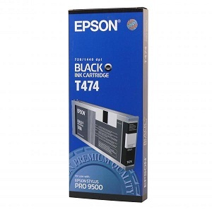 Epson T474 C13T474011 black ink cartridge original