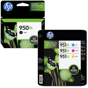 Hp 950XL 951xl Black Cyan Magenta Yellow Original 4 pack