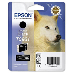 Epson T0961 black ink cartridge ORIGINAL