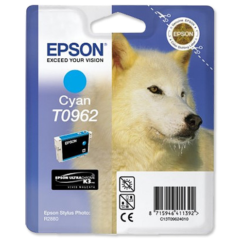Epson T0962 cyan ink cartridge ORIGINAL
