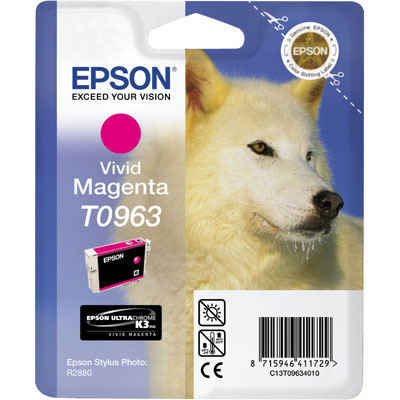 Epson T0963 vivid magenta ink cartridge ORIGINAL