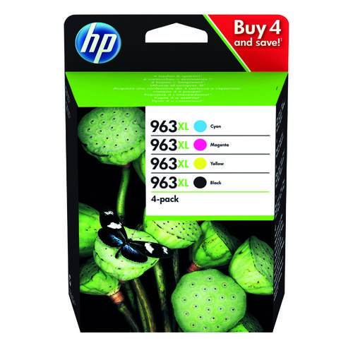 HP 963XL Original Ink Cartridge 4 Pack HY CMYK