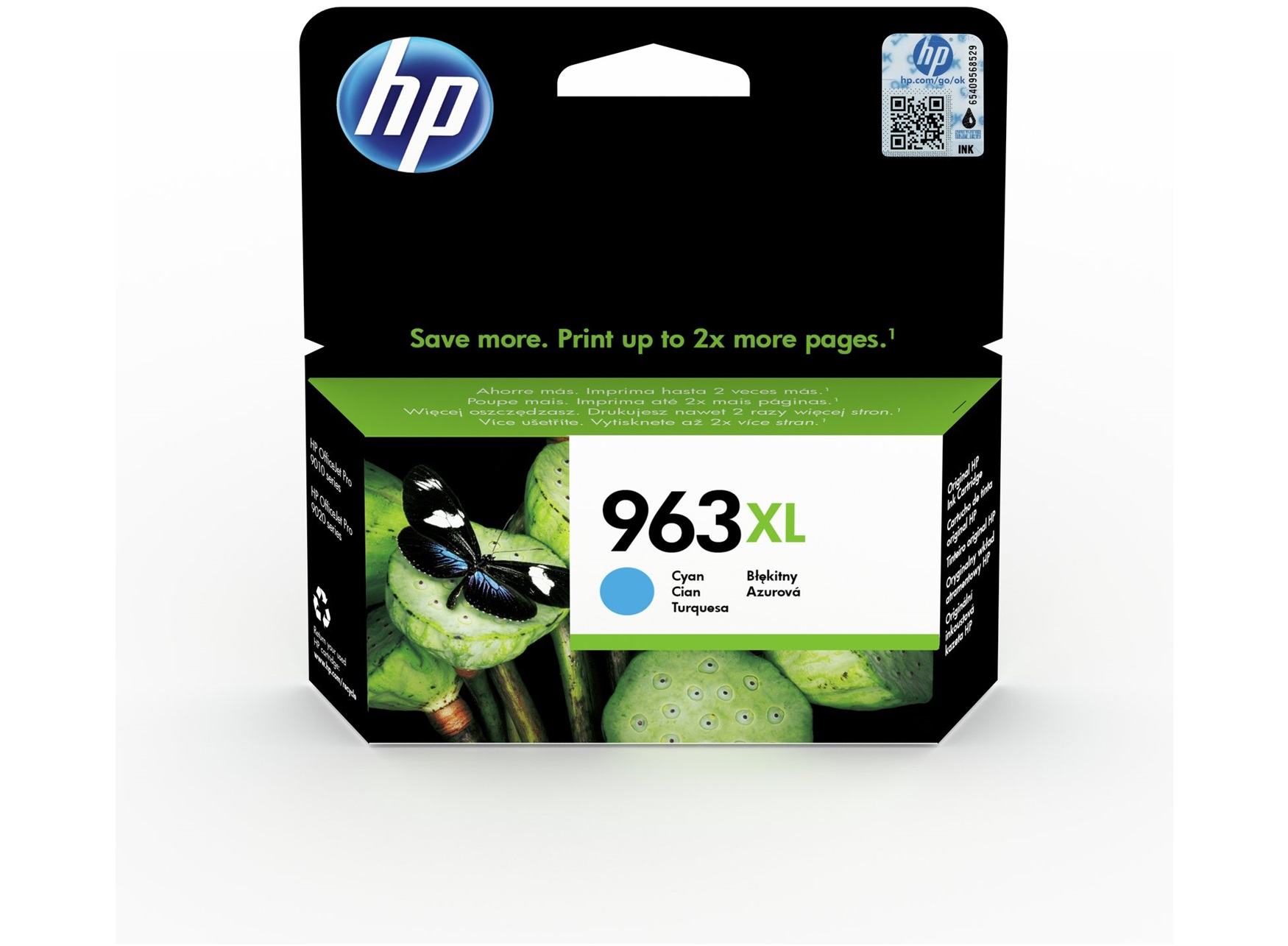 HP 963XL high capacity cyan ink cartridge original