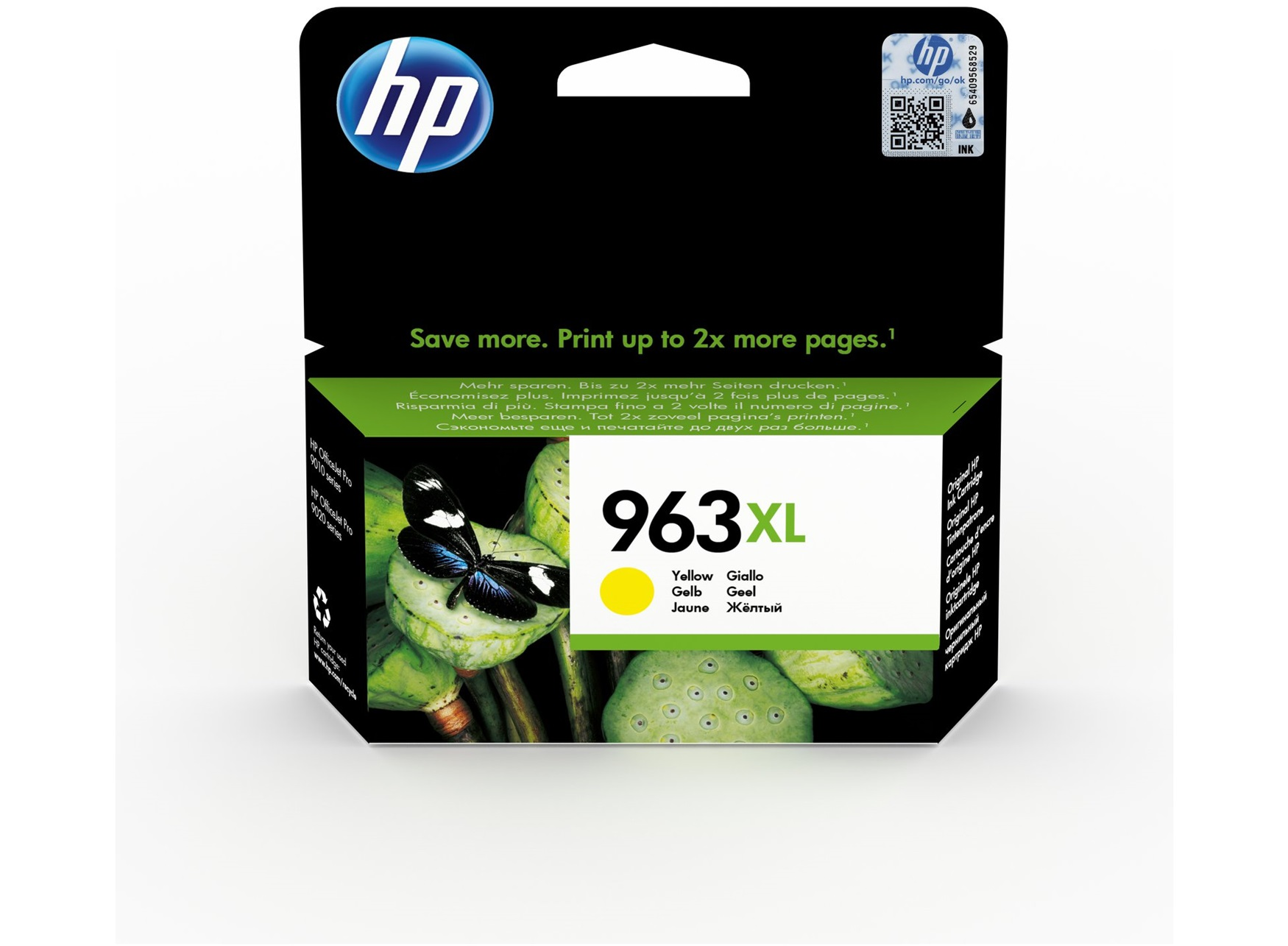 HP 963XL high capacity yellow ink cartridge original