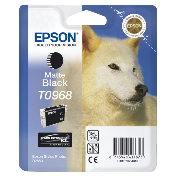 Epson T0968 matt black ink cartridge ORIGINAL