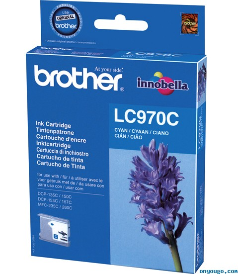 Brother LC-970 Cyan Ink Cartridge Original
