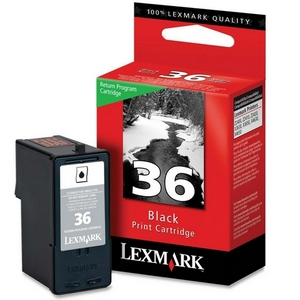 Lexmark 36 Black ink Cartridge Original