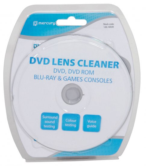 Mercury CD- DVD- CD Rom- DVD Rom -VCD Blu-Ray Lens Cleaner