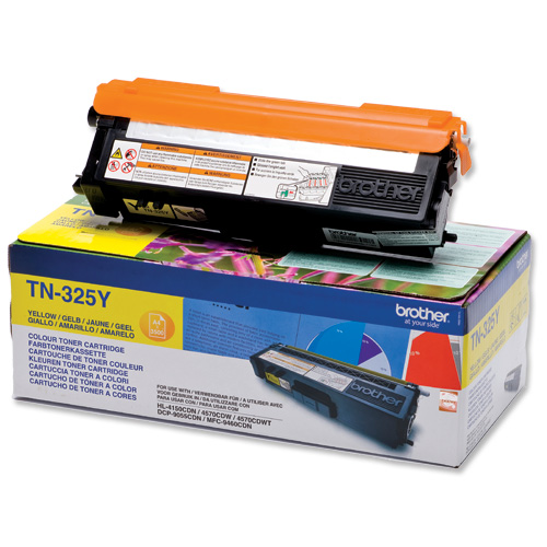 Brother TN-325 Yellow Toner - Brother 325 Yellow Toner