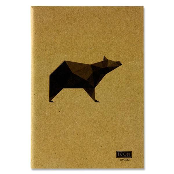 Icon A5 80pg 110gsm Kraft Sketch Book Animalia Design