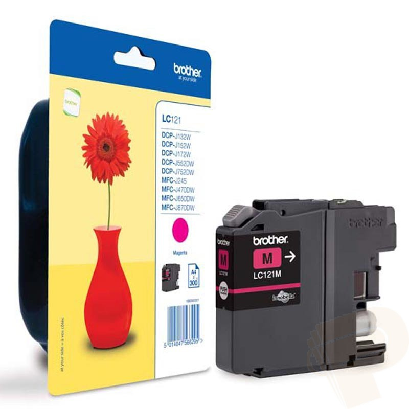 Brother LC121M magenta ink cartridge original