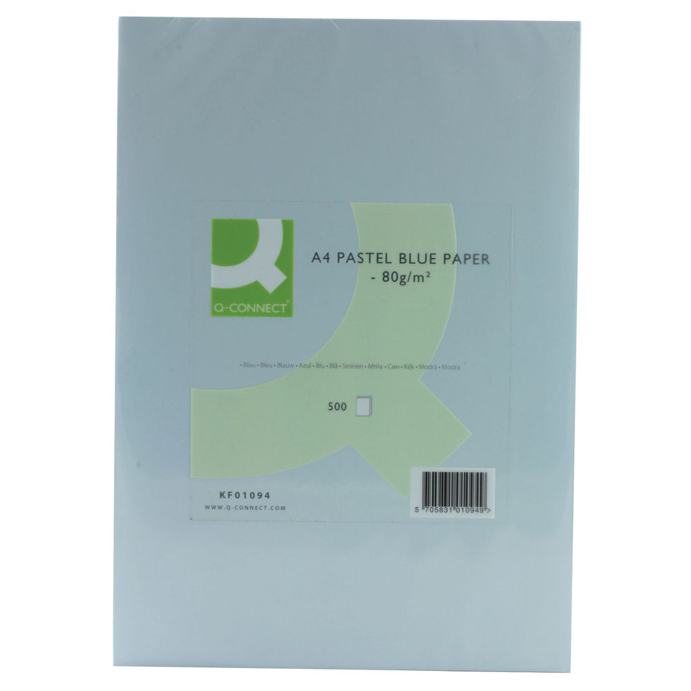 Q Connect Blue Coloured A4 Copier Paper 80gsm Ream Pack of 500