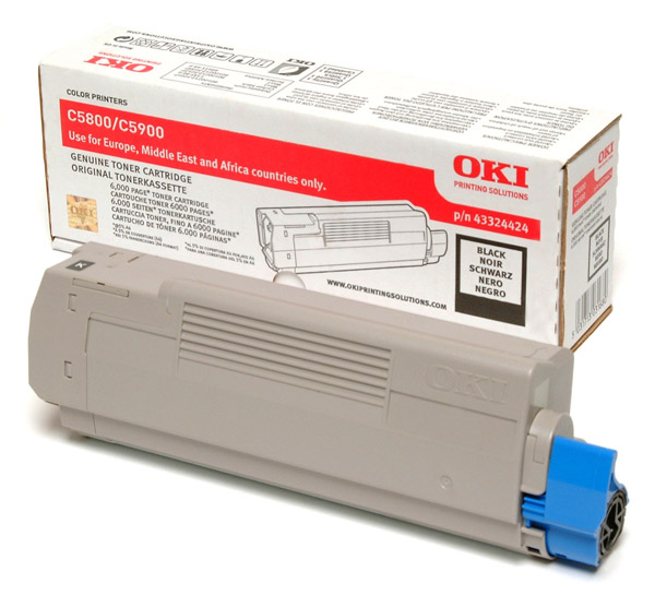 Oki 43324424 Black Toner Original