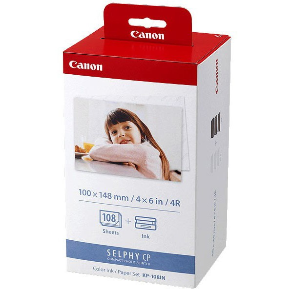 Canon KP-108IPKP -108IN ink cartridge And photo paper 3-pack original
