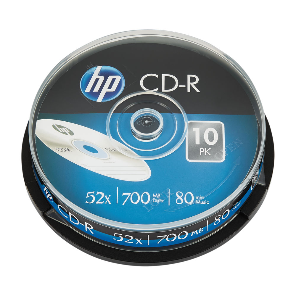 HP CD-R 52X 700MB Spindle Pack of 10