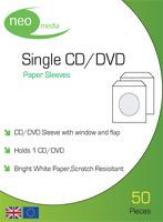 DvD Sleeves - CD Sleeves 50 Pack Paper