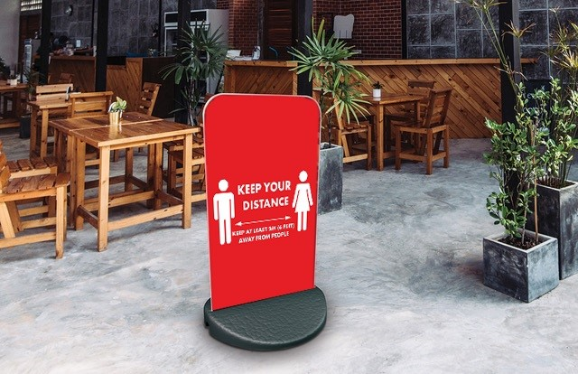 Keep Your Distance Pavement sign ECO FLEX