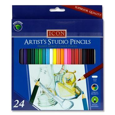 ICON BOX 24 ARTISTS STUDIO COLOUR PENCILS