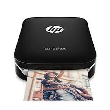HP Sprocket Photo Colour Printer Bluetooth Black X7N08A