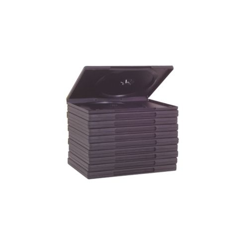 Single Disc DVD Case 10 Pack  Black