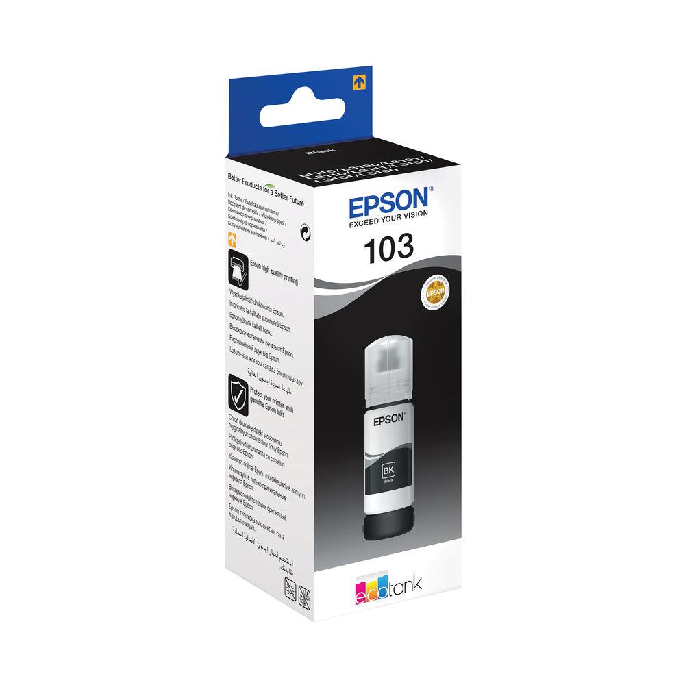 Epson 103 EcoTank Black Ink Bottle WE C13T00S14A10