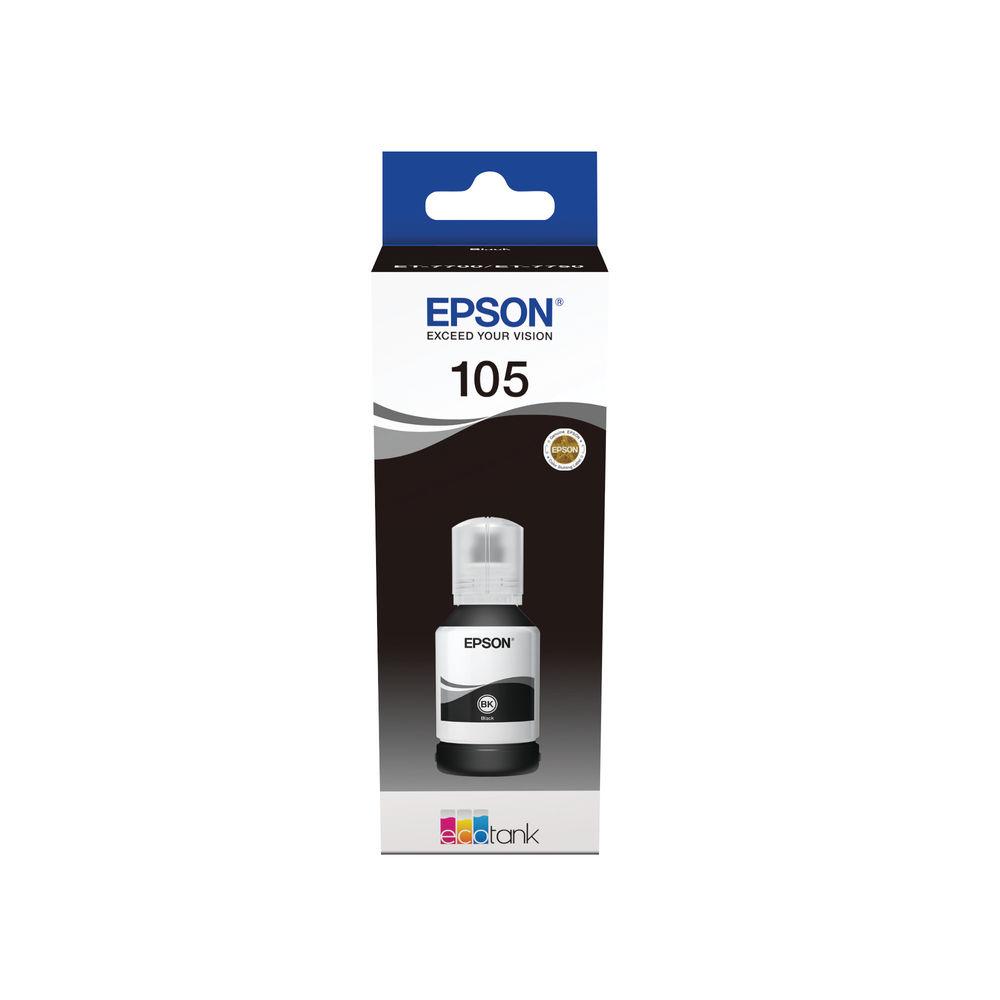 Epson 105 EcoTank Black Ink Bottle C13T00Q140