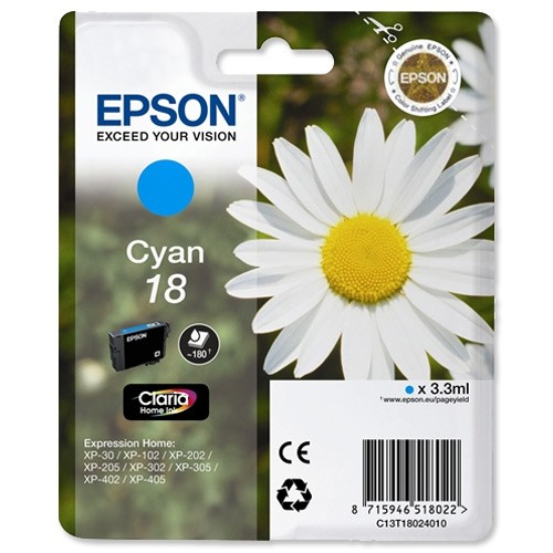 Epson T1802 Cyan Ink Cartridge Original