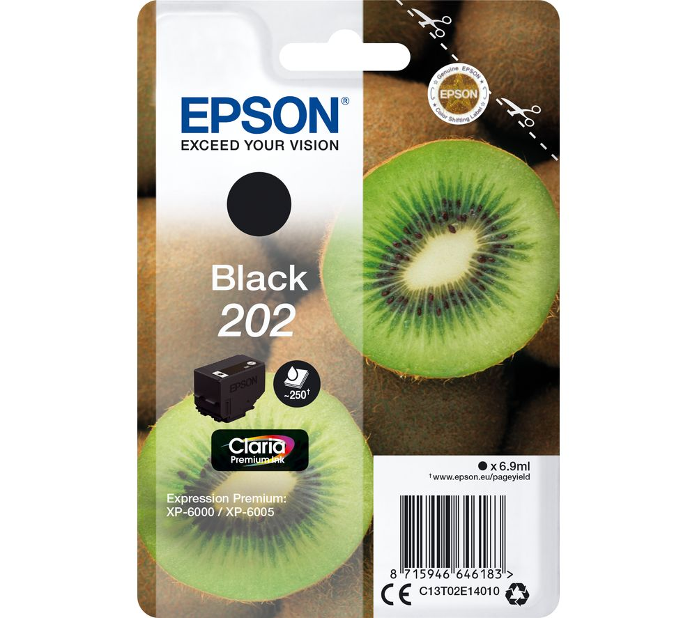 Epson 202 black ink cartridge original
