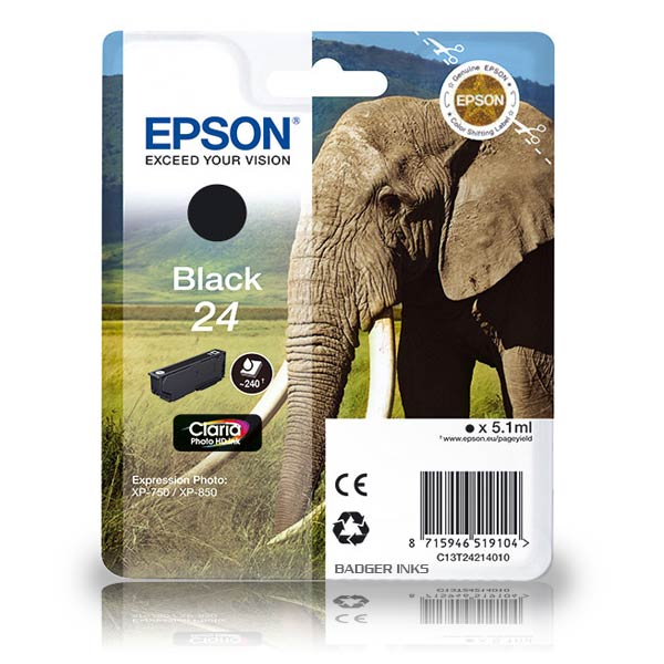 Epson 24 black ink cartridge original