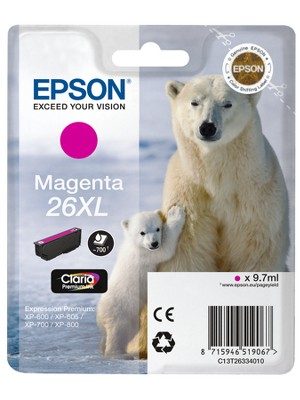 Epson 26XL T2633 high-cap magenta ink cartridge original