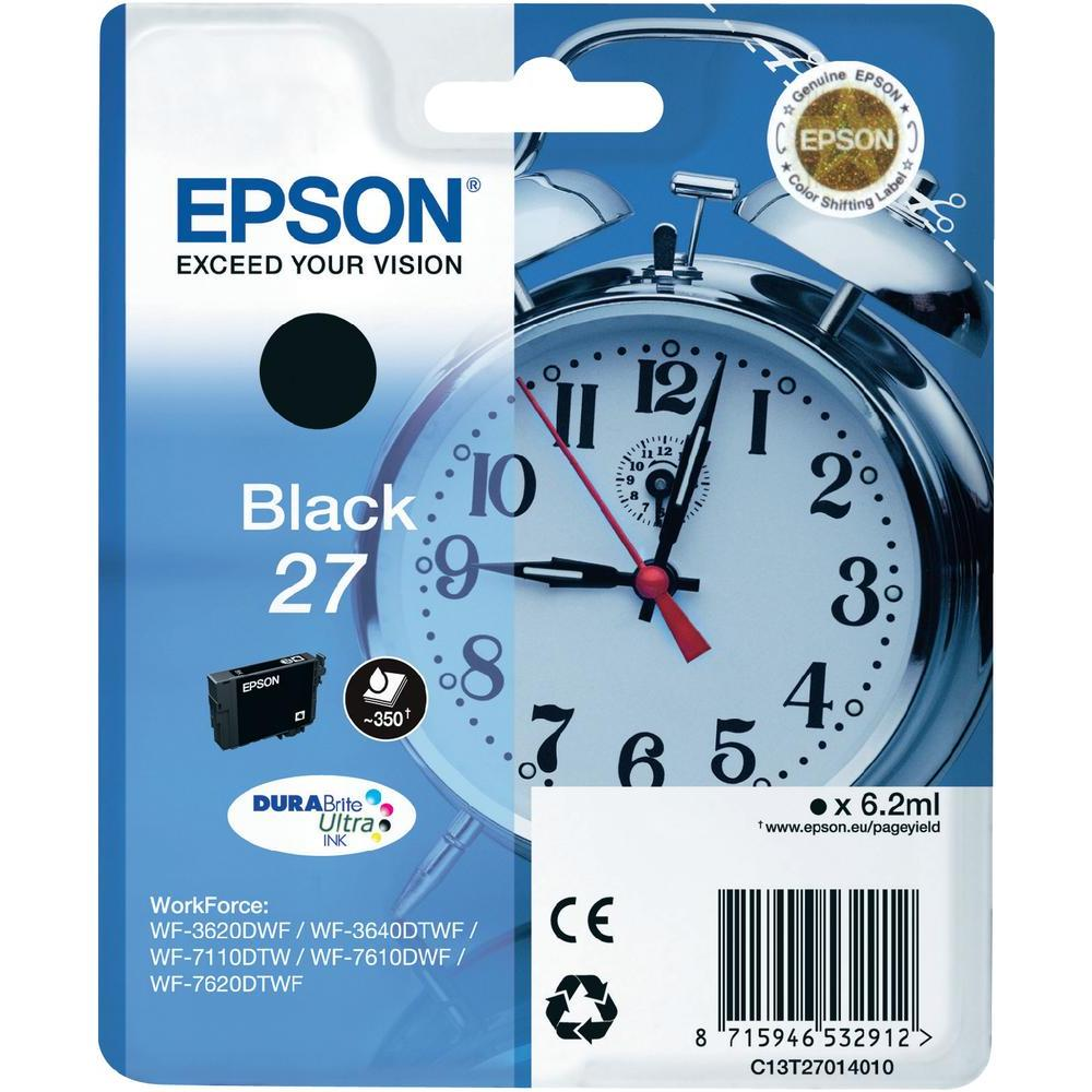 Epson 27 T2701 black ink cartridge original