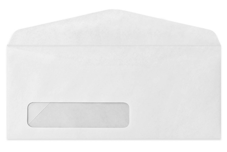 Envelopes 50 Pk White Window