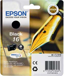 Epson 16 black ink cartridge ORIGINAL
