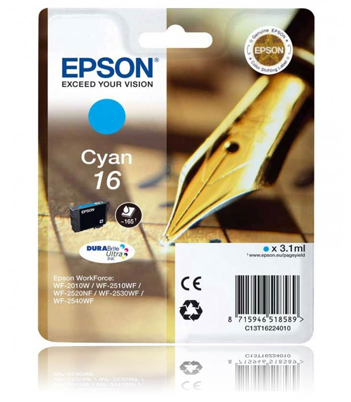 Epson 16 cyan ink cartridge ORIGINAL