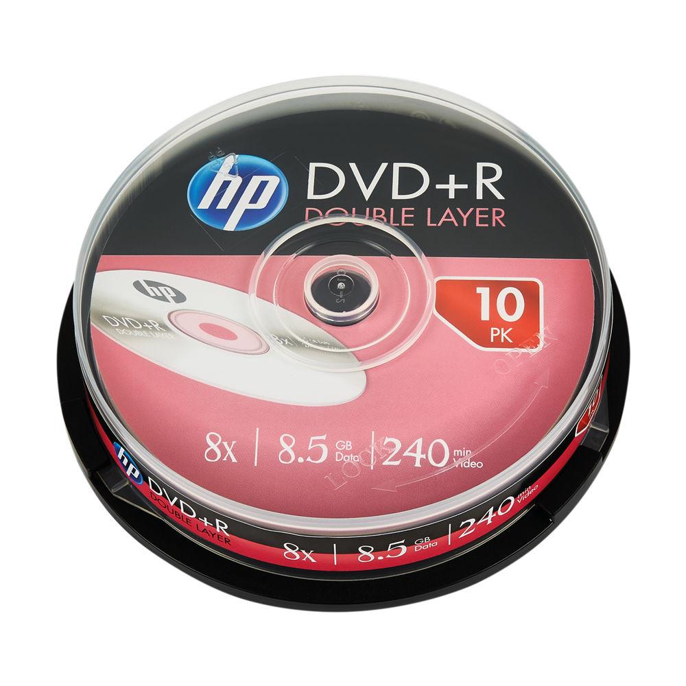 HP DVD PlusR DL 8X 8 5GB Spindle 10 Pack