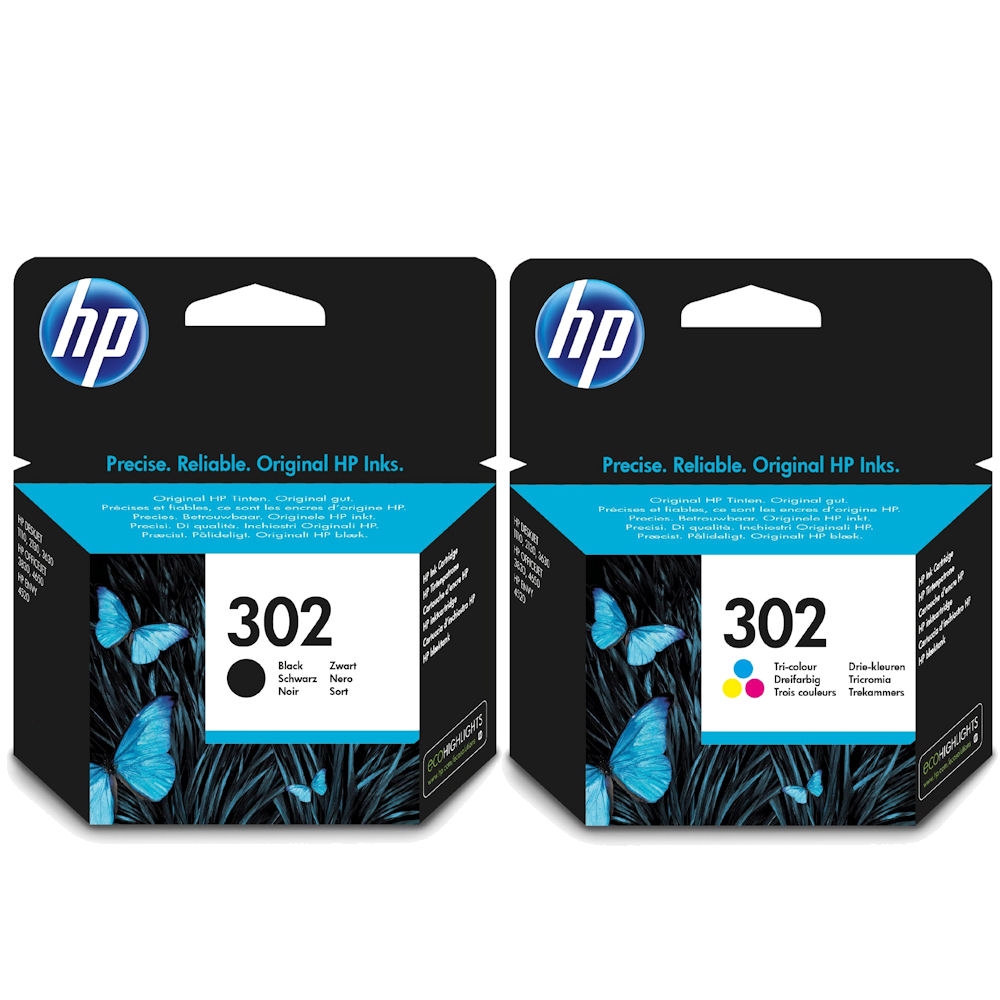 Hp 302 Twin Pack Black And Colour Original