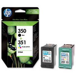 Hp 350 Black - Hp 351 Colour Ink Cartridge 2 -Pack Original
