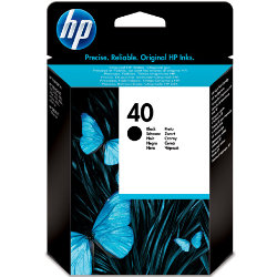 HP 40 Black InkJet Cartridge 42ml  Hp No 40 Black Ink Original
