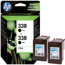 Hp 338 Black Twin Pack Ink Cartridge Original