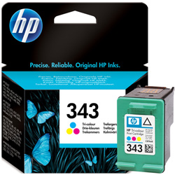 Hp 343 Tri Colour Ink Cartridge Original